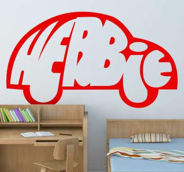 Vinilo decorativo logo Herbie