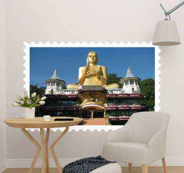Decorative Sri Lanka Buddha temple wall sticker.  Realistic and original texture country adventure location wall art decal. Easy to apply and original.