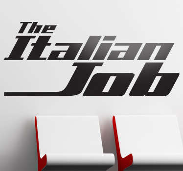 The Italian Job Wall Sticker
