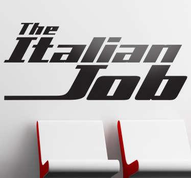 Vinilo decorativo logo Italian Job