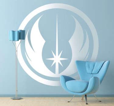 Adhesivo para los fans de la saga de la Guerra de las Galaxias, en este caso con el icono de los Jedi.