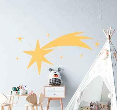 Ster van bethlehem kerst sticker. Groot sterontwerp met andere kleintjes, u kunt het in een van de beschikbare kleuren kopen.