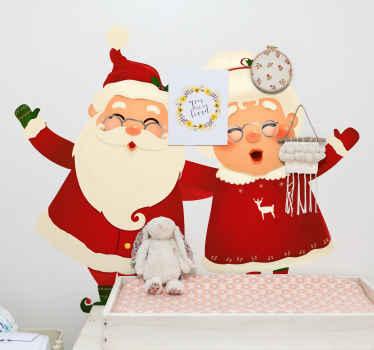 Dele a sus hijos la alegría y la felicidad de la navidad con este vinilo infantil de santa claus. Disponible en cualquier tamaño ¡Envío a domicilio!