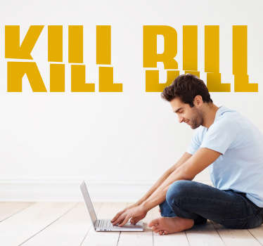 Sticker decorativo logo Kill Bill