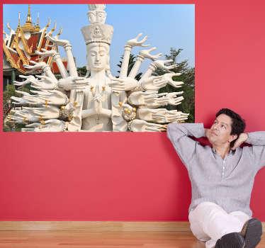 Будда фото настенная роспись наклейка