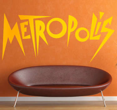 Sticker decorativo logo Metropolis
