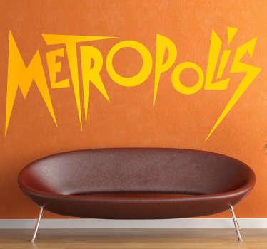 Vinilo decorativo logo Metropolis
