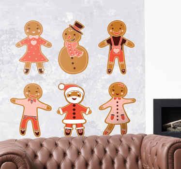 Decoratieve kerst decoratieve muursticker ontwerp het ontwerp is voorzien van verschillende figuren van sneeuwman, kerstman etc. Eenvoudig aan te brengen en van hoge kwaliteit.