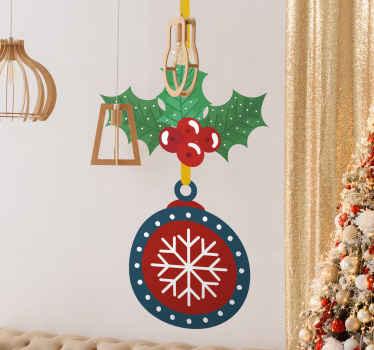 висит декоративный рождественский орнаментальный дизайн наклейки. это декоративно для дома, офиса, общественных и деловых мест на Рождество.