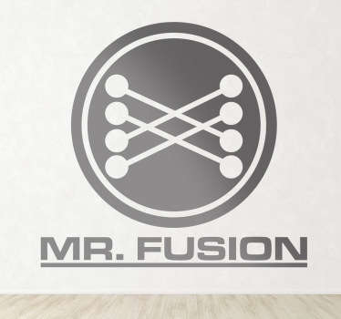 Adesivo murale logo Mr Fusion