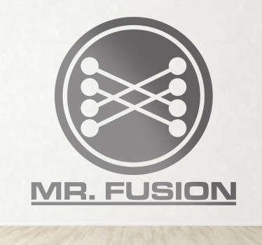 Sticker décoratif logotype Mr Fusion