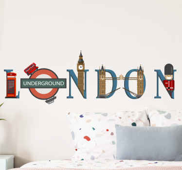 London landmarks London wall sticker. A very beautiful country location wall sticker to decorate any flat surface. It is  available in any needed size.