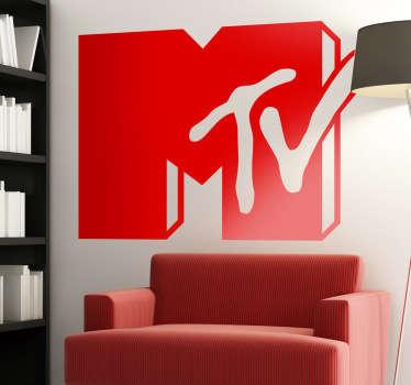 Vinilo decorativo logo Mtv