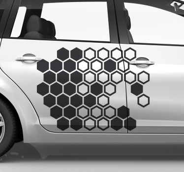 Decorativehoneycomb print car decal  design available in different colour options. Made of high quality vinyl and easy to apply on flat surface.