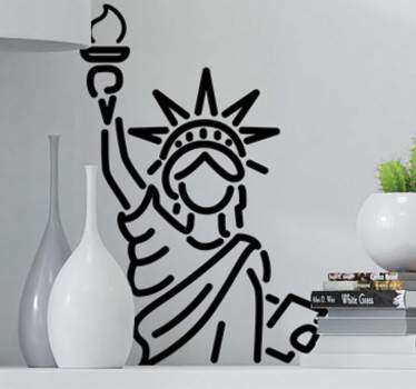 Photo Murals - Photographic shot of The Statue of Liberty, an American landmark.