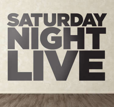 Vinilo decorativo logo Saturday Night Live