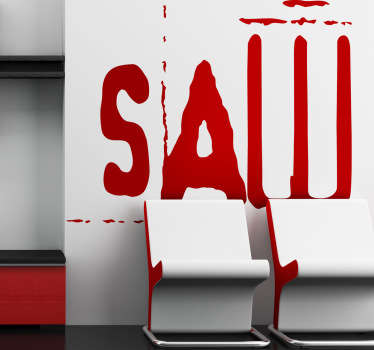 Vinilo decorativo logo Saw