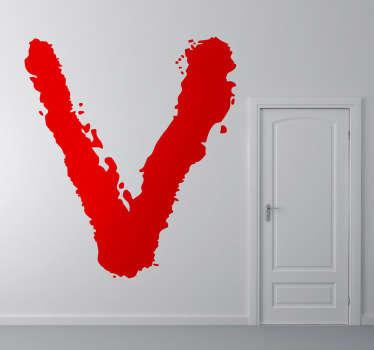 Vinilo decorativo logo serie V