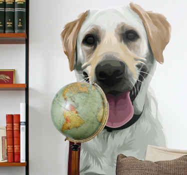 Een prachtige muursticker van een labrador dier die zo geweldig zal staan in u huis! Kies vandaag nog de perfecte maat voor uw muren.