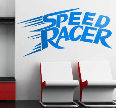 Sticker decorativo logo Speed Racer