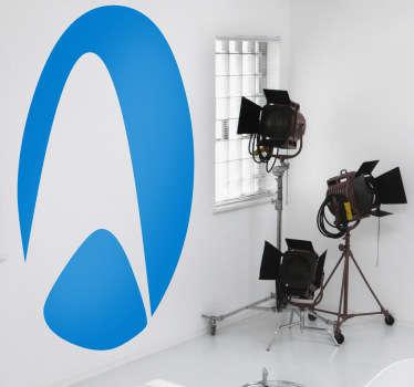 Logotipo en adhesivo de la franquicia de series y películas que narra la travesía por el espacio de la famosa nave Enterprise.