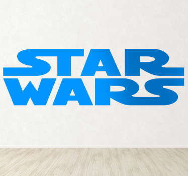 An original logo decal illustrating the famous Star Wars text! Text sticker for huge fans of the saga directed by George Lucas.