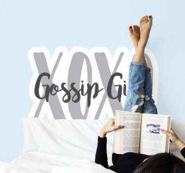 Awesome Gossip Girl sticker which features the text XOXO Gossip Girl, a classic line from the show! Choose your size now.