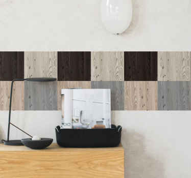 Different texture colour of wood decal to beautify your wall. The design appears realistic and you would love it and the way it transform your space.