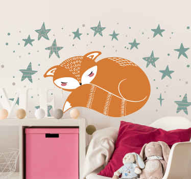 Get your a nordic style animal themed wall sticker that will be perfect for your little one's rooms. Made with anti-bubble vinyl.