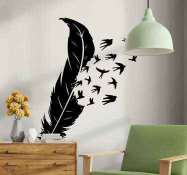 Wall sticker with flying birds. Easy to apply on a wall and made of high quality vinyl. Every dreamer will love such a decor!