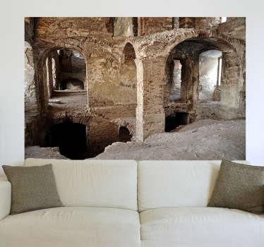 Imagina teres no teu quarto ou sala de estar uma vista para essas ruínas antigas romanas até dá a sensação que toda parede faz parte desta paisagem.