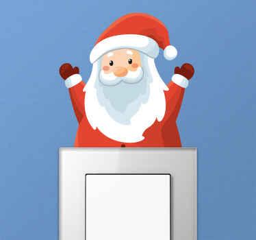 Ein weihnachtlicher lichtschalter-aufkleber, der Ihrem Zuhause in dieser festlichen jahreszeit den perfekten zusätzlichen dekorativen touch verleiht!