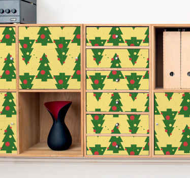 Kerstmis bomen meubels sticker. Perfecte decoratie voor kasten in u keuken. Gemaakt van hoogwaardig vinyl en gemakkelijk aan te brengen.