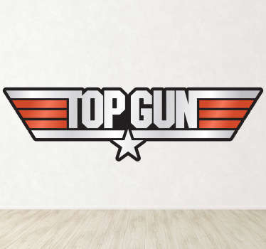 Vinilo decorativo logo Top Gun color