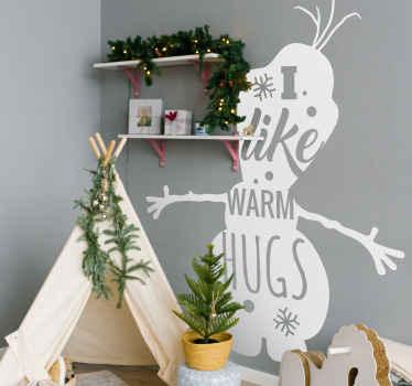 Maak kerstmis specialer met deze Olaf vinyl sticker van sneeuwman kerstmis! Met zeer eenvoudige aanvraag- en verwijderingsprocessen.