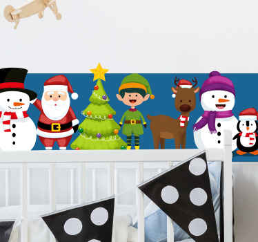 Decorate your home, office or business with this festive Christmas sticker. A perfect decorative piece for the shop! Order it now!