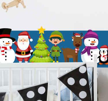このお祝いのクリスマスステッカーであなたの家、オフィスまたはビジネスを飾ります。お店にぴったりの装飾品!今すぐ注文してください!