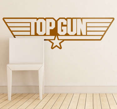 Sticker decorativo logo Top Gun