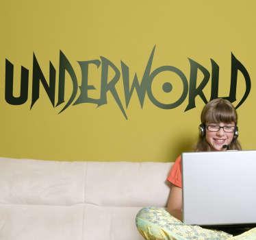 Vinilo decorativo logo Underworld