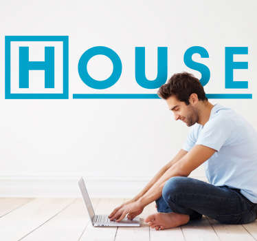Vinilo decorativo logotipo House