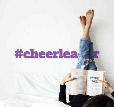 テキスト#cheerleaderが付いている素晴らしいテキストステッカー。割引あり。高品質のビニール素材を使用。カスタムメイド。