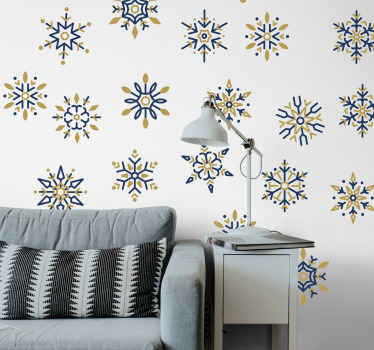 25 unique colorful snowflakes Christmas sticker to decorate your home for Christmas. The product is made of best quality vinyl and easy to apply.