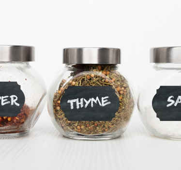 Food storage label that you can write on. Great idea to label your spice and food ingredient containers, it can be cleaned and re-written on anytime.