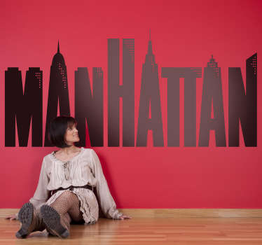 Manhattan Woody Allen Decorative Sticker
