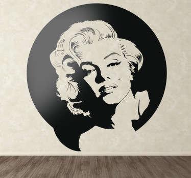 Sticker decorativo Marilyn Monroe