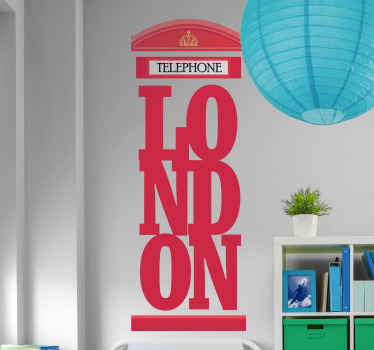 London landmark lettering wall decal. Lovely design to symbolize or flag London on any space. It is original and available in different colour option.