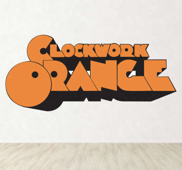 Vinilo decorativo Naranja Mecánica