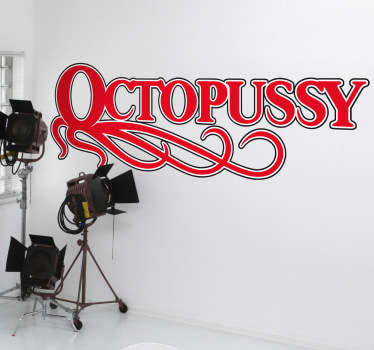 Octopussy James Bond Wall Sticker