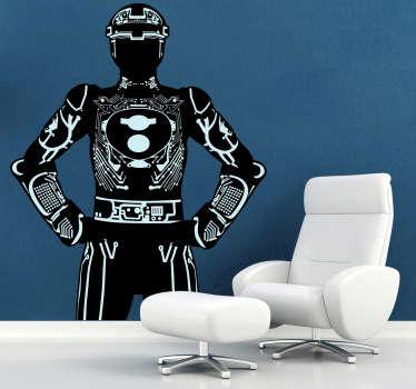 Sticker decorativo personaggio Tron