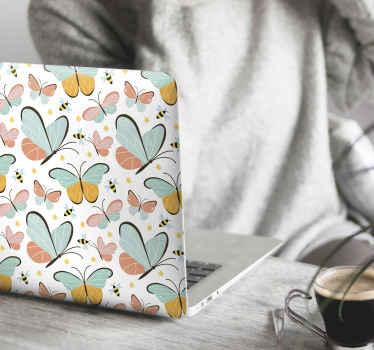 stickers de papillons décoratifs pour votre ordinateur portable. Un design charmant. Facile à appliquer.